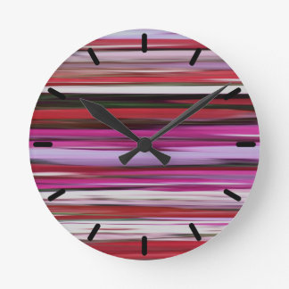Abstract #2: Red blur Round Clock