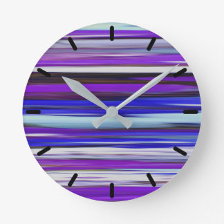 Abstract #2: Ultraviolet blur Round Clock