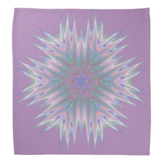 Abstract 336 a Pastel Kaleidoscope Bandana