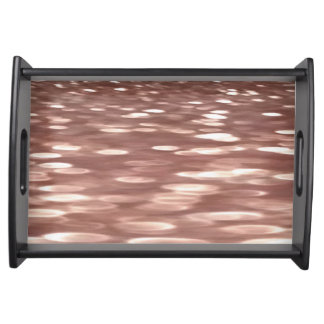 Abstract #3: Copper Rose Gold shimmer Serving Tray