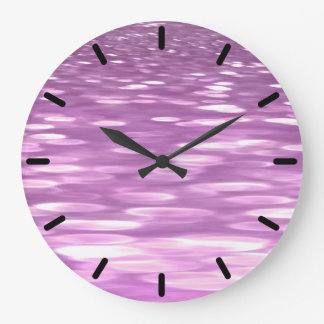 Abstract #3: Lilac Shimmer Large Clock