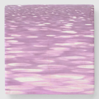 Abstract #3: Lilac Shimmer Stone Coaster