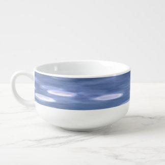 Abstract #3: Powder blue shimmer Soup Mug