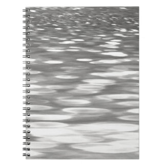 Abstract #3: Silver grey shimmer Notebook