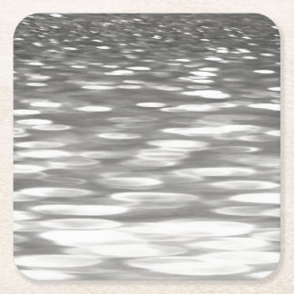 Abstract #3: Silver grey shimmer Square Paper Coaster