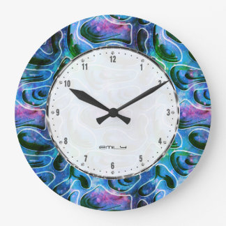 Abstract 3D Background Pattern Large Clock