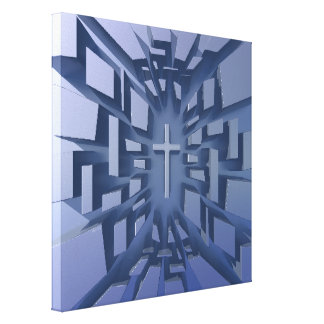 Abstract 3D Christian Cross Canvas Prints