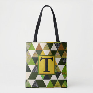Abstract #475 Monogram Tote Bag