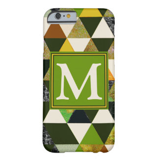 Abstract #475 Monogrammed Barely There iPhone 6 Case