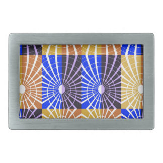 abstract #4 belt buckles