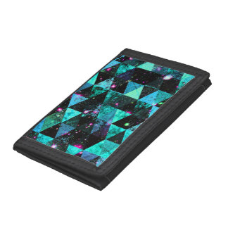 Abstract #509 tri-fold wallet