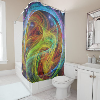 abstract 67 shower curtain