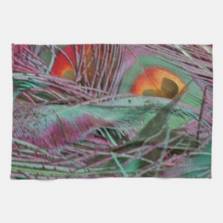 Abstract 70s Peafowl Tea Towels