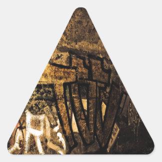 abstract-71487 ABSTRACT GRAFFITI CITY WALL WALLPAP Triangle Sticker