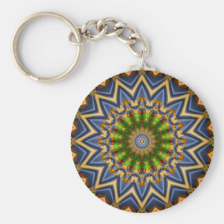 abstract #74 basic round button key ring
