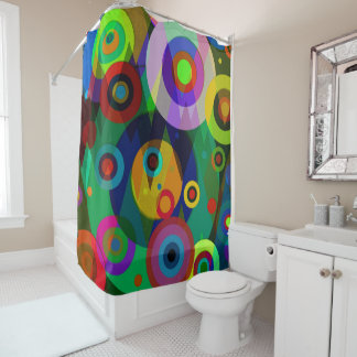 Abstract #794 shower curtain