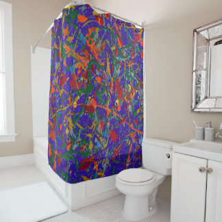 Abstract #817 shower curtain