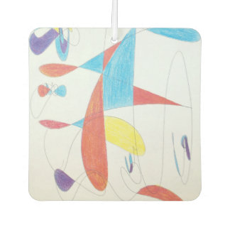 Abstract 917b - square car freshener