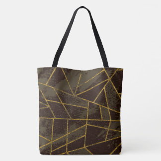 Abstract #941 Brown Tote Bag