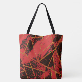 Abstract #942 Red Tote Bag