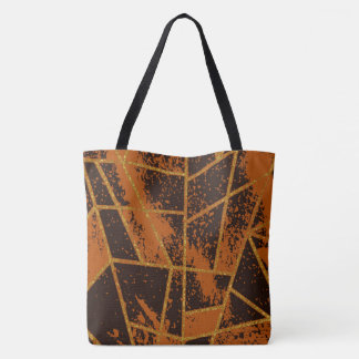 Abstract #944 Brown Tote Bag