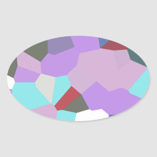 Abstract A Oval Stickers