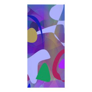 Abstract Abstract Blue Hue Custom Rack Card