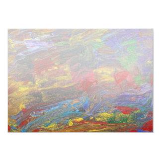 "Abstract - Acrylic - Anger Joy Stability 5"" X 7"" Invitation Card"