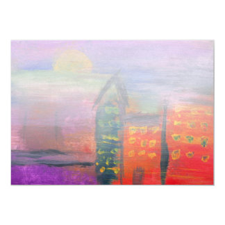 Abstract - Acrylic - Lost in the city Custom Invite