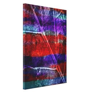 Abstract Acrylic on Leaf Canvas Prints