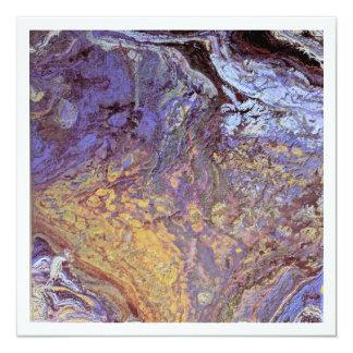 Abstract Acrylic Pour Art Blank Card Invitation