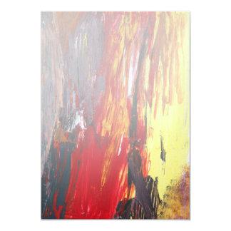 "Abstract - Acrylic - Rising power.jpg 5"" X 7"" Invitation Card"