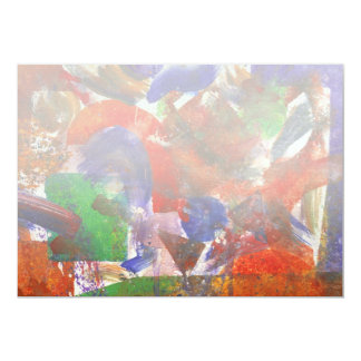 """Abstract - Acrylic - Synthesis 5"""" X 7"""" Invitation Card"""