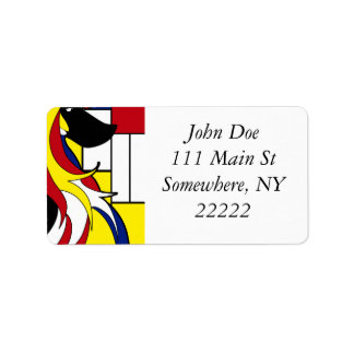 Abstract Afghan Hound Address Label