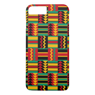 Abstract African Kente Cloth Pattern Red Yellow iPhone 7 Plus Case