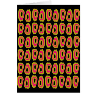 Abstract african pattern card