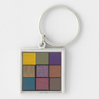 Abstract African quilt patchwork Keychains