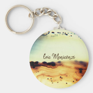Abstract Agate Stone Key Ring
