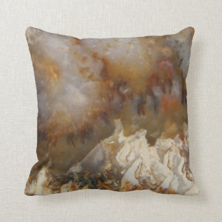 Abstract Agate throw pillow