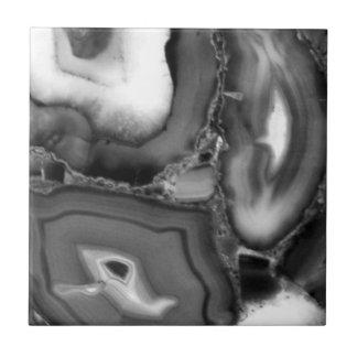 Abstract Agates - grey tone Tile