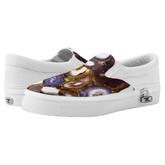 Abstract Agates Slip On Shoes