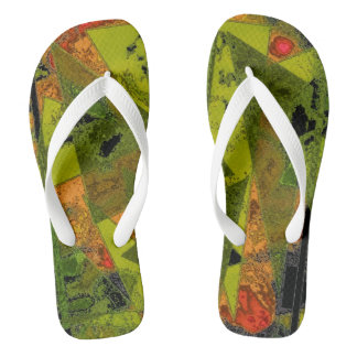"""Abstract Ala Mode"" Adult Flip Flops Thongs"