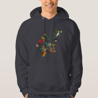 Abstract Alice in Wonderland collage Hoodie