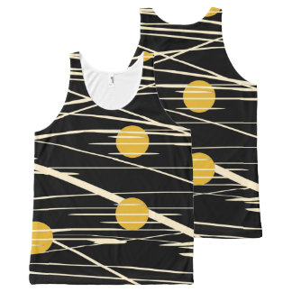 abstract All-Over print singlet
