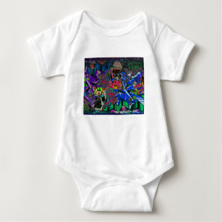 Abstract Altered Graffiti Baby Bodysuit