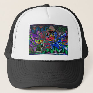 Abstract Altered Graffiti Trucker Hat