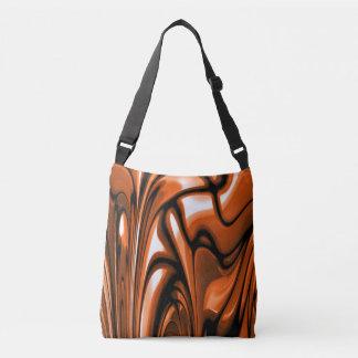 Abstract Amber Ocean Crossbody Bag