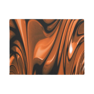 Abstract Amber Ocean Doormat