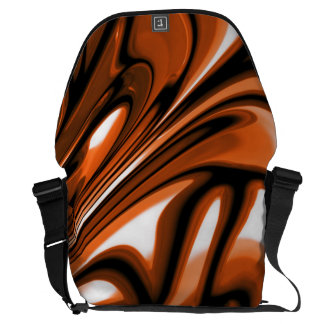 Abstract Amber Ocean Messenger Bags