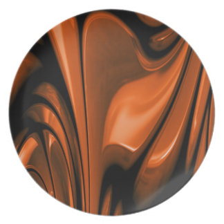 Abstract Amber Ocean Plate